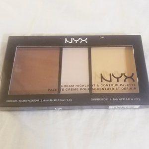 NYX Cream Contour & Highlight Palette Light